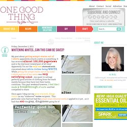 """""""One Good Thing"""" by Jillee: Whitening Whites...Can This Cami Be Saved?"""