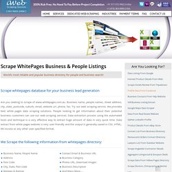 WhitePages Database Scraping, Extract Data From White Pages, WhitePages Email Scraping