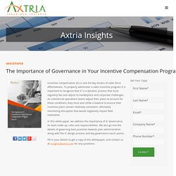 Axtria Whitepaper: Incentive Compensation Governance