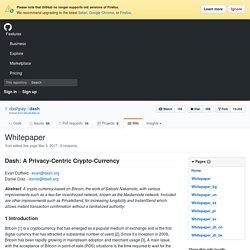 Whitepaper · dashpay/dash Wiki