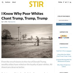 I Know Why Poor Whites Chant Trump, Trump, Trump – STIR Journal