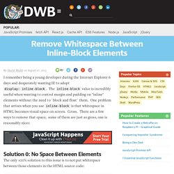 Remove Whitespace Between Inline-Block Elements