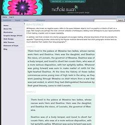 Whitespace - Nichole Jonas -Science @ NICHD