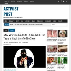 MSM Whitewash Admits US Funds ISIS But There Is Much More To The Story