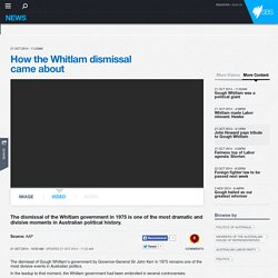 How the Whitlam dismissal came about