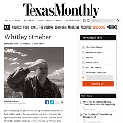 Whitley Strieber - Texas Monthly