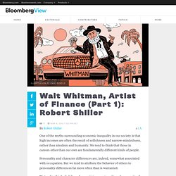 Walt Whitman, First Artist of Finance (Part 1): Robert Shiller