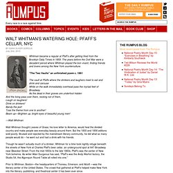 Walt Whitman's Watering Hole: Pfaff's Cellar, NYC - The Rumpus.n
