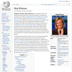Meg Whitman - Wikipedia, the free encyclopedia