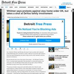 4/14/20: Whitmer takes shot at DeVos family involvement in Lansing protest
