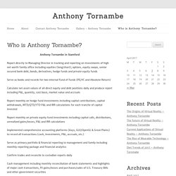 Who is Anthony Tornambe - Anthony Tornambe ​in Stamford