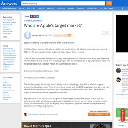 Who are Apple's target market