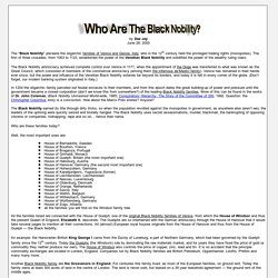 Who Are The Black Nobility?
