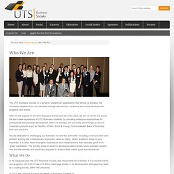 Who We Are - UTS Business Society