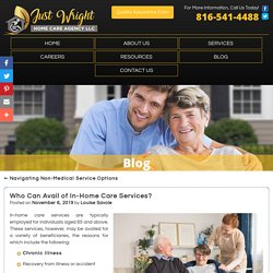 Who Can Avail of In-Home Care Services?