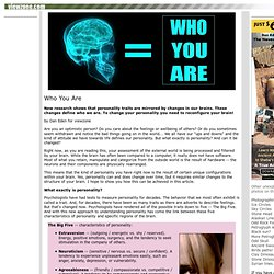 WHO YOU ARE - New brain research on personality