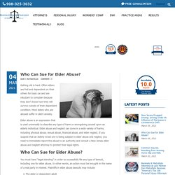 Who Can Sue for Elder Abuse?