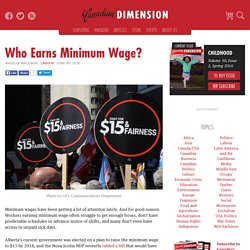 Who Earns Minimum Wage?