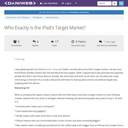 Who Exactly is the iPad's Target Market?