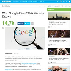Who Googled You? This Website Knows