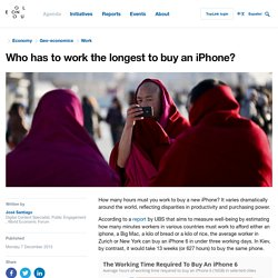 Who has to work the longest to buy an iPhone?