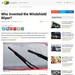 Who Invented the Windshield Wiper?