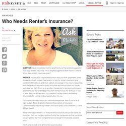 Who Needs Renter's Insurance?
