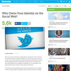 Who Owns Your Identity on the Social Web?