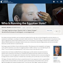 Who Is Running the Egyptian State?