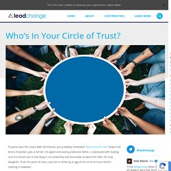 Who's In Your Circle of Trust?
