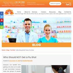 Who Should NOT Get a Flu Shot