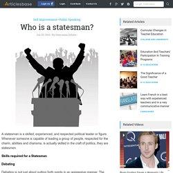 Who is a statesman?