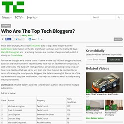 Who Are The Top Tech Bloggers?