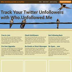 Twitter Unfollower Tracker