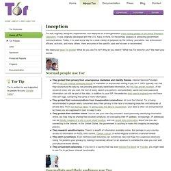 Who uses Tor?