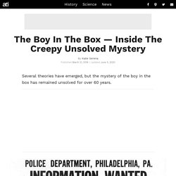Who Was The 'Boy In The Box,' And How Did He Die?