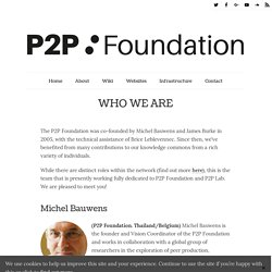Who we are - P2P Foundation