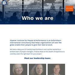 Who we are - iOpener Institute