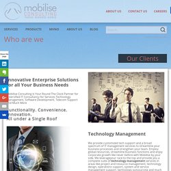 Who are we - Mobilise Consulting