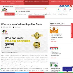 Who can wear Yellow Sapphire Stone