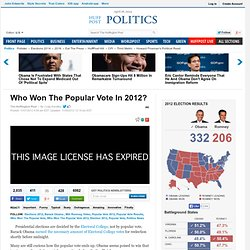 Who Won The Popular Vote In 2012?