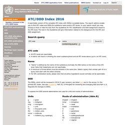 ATC/DDD Index