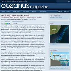 Oceanus : Fertilizing the Ocean with Iron