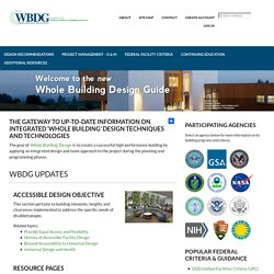 WBDG - The Whole Building Design Guide