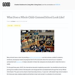 What Does a Whole Child-Centered School Look Like?