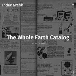 The Whole Earth Catalog – Index Grafik