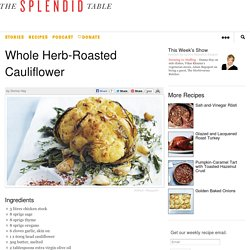 Whole Herb-Roasted Cauliflower