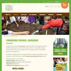 Whole Kids Foundation - Schools -