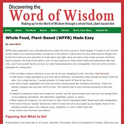 Easy Whole Food, Plant-based Meals
