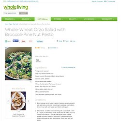 Whole-Wheat Orzo Salad with Broccoli-Pine Nut Pesto